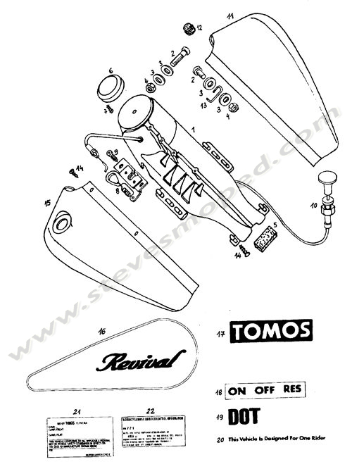 catalogs    tomos revival a35   faux tank  decals