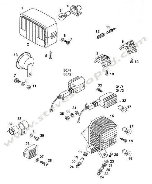 Catalogs    Tomos Sprint A55   Electric Parts